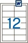 97 x 42,4 mm méretű öntapadós etikett címke A4-es lapon.