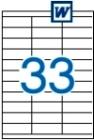 70 x 25,4 mm méretű öntapadós etikett címke A4-es lapon.