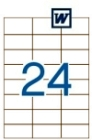 70 x 37 mm méretű öntapadós etikett címke A4-es lapon.