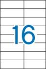 105 x 37 mm méretű öntapadós etikett címke A4-es lapon.