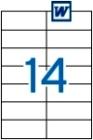 105 x 42,4 mm méretű öntapadós etikett címke A4-es lapon.