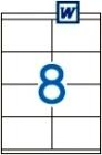 105 x 70 mm méretű öntapadós etikett címke A4-es lapon.