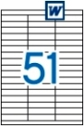 70 x 16,9 mm méretű öntapadós etikett címke A4-es lapon.