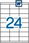 70 x 36 mm méretű öntapadós etikett címke A4-es lapon.