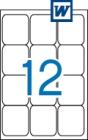 63,5 x 72 mm méretű öntapadós etikett címke A4-es lapon.