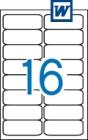 99,1 x 34 mm méretű öntapadós etikett címke A4-es lapon.