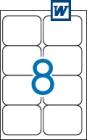 99,1 x 67,7 mm méretű öntapadós etikett címke A4-es lapon.