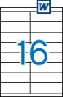 105 x 35 mm méretű öntapadós etikett címke A4-es lapon.