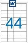 48,5 x 25,4 mm méretű öntapadós etikett címke A4-es lapon.