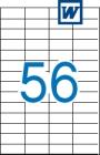52,5 x 21,2 mm méretű öntapadós etikett címke A4-es lapon.