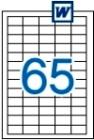 38 x 21,2 mm méretű öntapadós etikett címke A4-es lapon.
