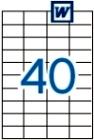 52,5 x 29,7 mm méretű öntapadós etikett címke A4-es lapon.
