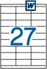 70 x 30 mm méretű öntapadós etikett címke A4-es lapon.