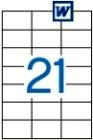 70 x 42,4 mm méretű öntapadós etikett címke A4-es lapon.