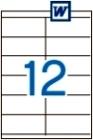 105 x 48 mm méretű öntapadós etikett címke A4-es lapon.