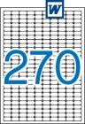 17,8 x 10 mm méretű öntapadós etikett címke A4-es lapon.