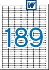 25,4 x 10 mm méretű öntapadós etikett címke A4-es lapon.