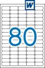 35,6 x 16,9 mm méretű öntapadós etikett címke A4-es lapon.