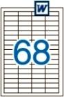 48,5 x 16,9 mm méretű öntapadós etikett címke A4-es lapon.