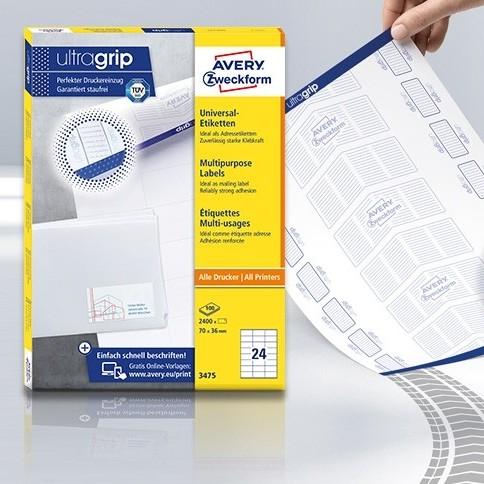 Avery Zweckform nyomtatható öntapadós etikett címke és matrica