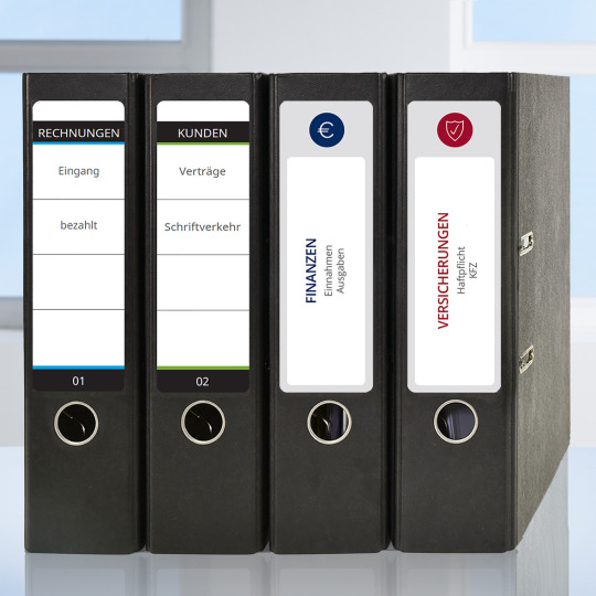 Avery Zweckform nyomtatható öntapadós iratrendező címkék.
