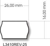 Avery Zweckform L3410REV-25 árazó címke befoglaló méretei