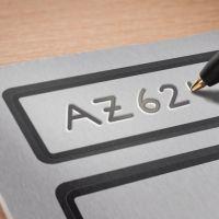 Időjárásálló, öntapadó alumínium leltár címke
