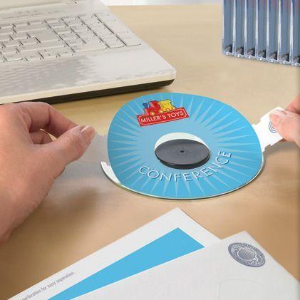 Könnyedén felragasztható CD címke