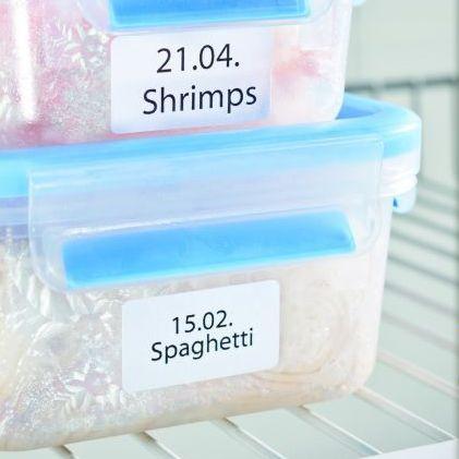 Öntapadó etikett címke fagyasztott termékekre