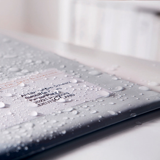 Nyomtatható, öntapadós időjárásálló címke