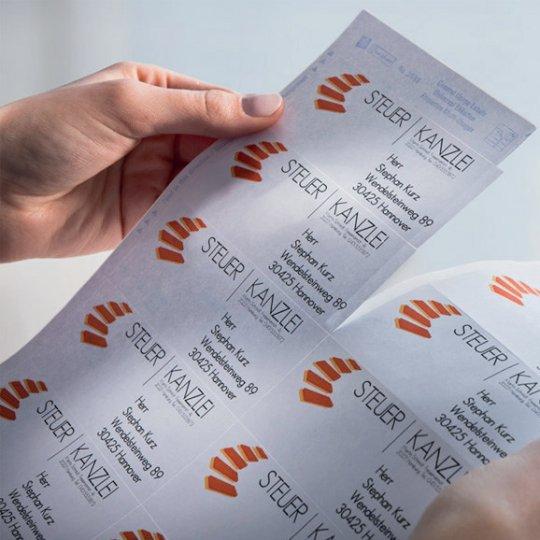 az etikett címkék gyors leválasztását segítő QuickPEEL technológia