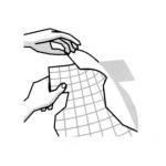 sötét polóra vasalható fólia felvasalása