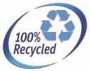 Öntapadó etikett címke újrahasznosított alapanyagokból.