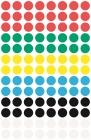 8 mm átmérőjű színes öntapadó jelölőcímke.