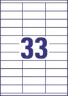70 x 25,4 mm méretű öntapadó címke A4-es lapon.