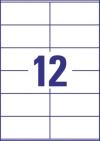 105 x 48 mm méretű öntapadó címke A4-es lapon.
