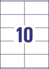 105 x 57 mm méretű nyomtatható öntapadós etikett A4-es lapon.
