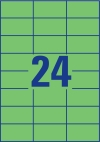 70 x 37 mm méretű nyomtatható öntapadós etikett A4-es lapon.