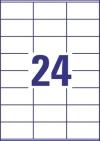 70 x 36 mm méretű nyomtatható öntapadós etikett A4-es lapon.