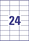 70 x 36 mm méretű öntapadó címke A4-es lapon.
