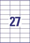 70 x 32 mm méretű nyomtatható öntapadós etikett A4-es lapon.