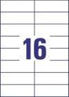 105 x 37 mm méretű öntapadó címke A4-es lapon.
