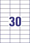 70 x 29,7 mm méretű öntapadós etikett címke A4-es lapon.