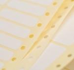 40 x 14 mm méretű öntapadó leporellós címke.