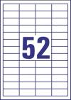 48 x 21 mm méretű nyomtatható öntapadós etikett A4-es lapon.