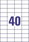 52,5 x 29,7 mm méretű nyomtatható öntapadós etikett A4-es lapon.