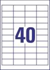 48,5 x 25,4 mm méretű nyomtatható öntapadós etikett A4-es lapon.