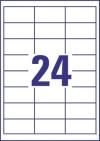 64,6 x 33,8 mm méretű öntapadós etikett címke A4-es lapon.