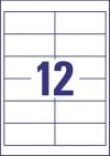 97 x 42,3 mm méretű nyomtatható öntapadós etikett A4-es lapon.