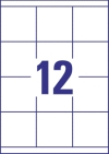 70 x 67,7 mm méretű nyomtatható öntapadós etikett A4-es lapon.